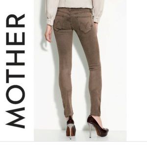 Mother The Looker Pop Skinny Jeans Brown Clay S 30